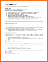Warehouse Resume Examples Impressive Resume Samples Construction Work With General Labor Resume General