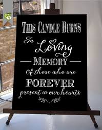 memorial for wedding. this candle burns in loving memory wedding sign memorial table black \u0026 white diy printable instant download your whitesuite for g