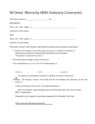 new jersey deed form 40 warranty deed templates forms general special template lab