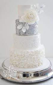 Silver Wedding Cake Wedding Cake Ideas Chwv