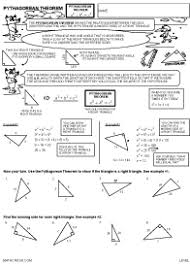 geometry worksheets and help pages by math crush preview of math worksheet on pythagorean theorem level 1