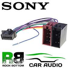 sony mex n4100bt car radio stereo 16 pin wiring harness loom iso image is loading sony mex n4100bt car radio stereo 16 pin