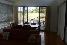 looking out front door. Ramada Resort Diamond Beach: Dining - Looking Out Front Door