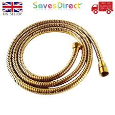 new 1 5 m or 2 m stainless steel chrome gold bathroom shower head hose pipe