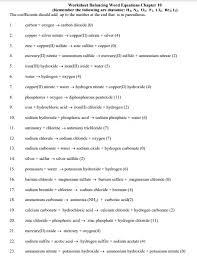 free balancing chemical equations