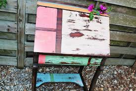 distressed antique furniture. Absolutely Smart Multi Color Distressed Furniture Colored Desk BeachBumLivin Awesome DIY Project Antique I