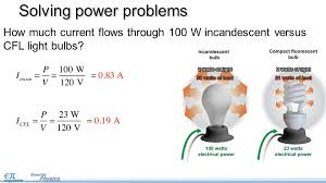 electrical power pg objectives use the equation for  9 how