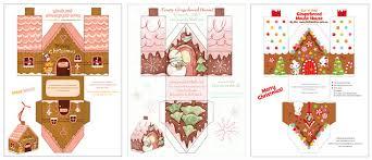 Christmas House Template Gingerbread House Printables For Christmas Christmas
