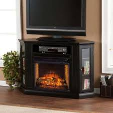 w convertible media infrared electric fireplace in black