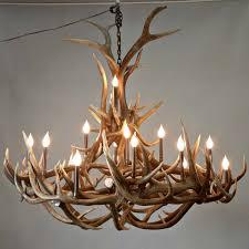 round elk antler chandelier