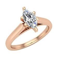 Marquise Cut Diamond Engagement Ring For Women 5 8 Carat 14k