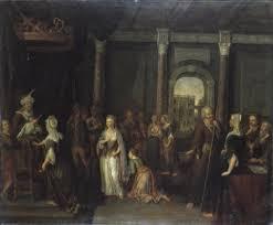Esther bij Ahasverus Xerxes I by Gerard Hoet the Elder on artnet