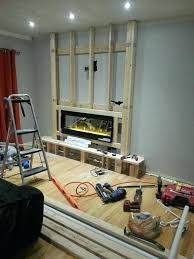 wall mount electric fireplace inserts the electric fireplace was installed renovate home projects iserman wall mounted