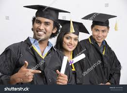 happy group n college graduates wearing stock photo  happy group of n college graduates wearing cap and gown holding diploma on white background