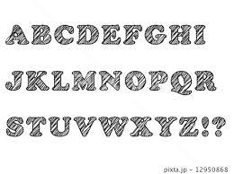 手書き風フォント Abcのイラスト素材 12950868 Pixta