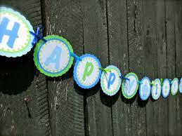 Printable birthday name banner ~ Printable birthday name banner ~ Instant download printable happy st birthday banner blue cupcake