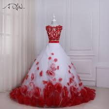 Aliexpress Com Buy Adln Two Pieces Wedding Dresses With Flowers