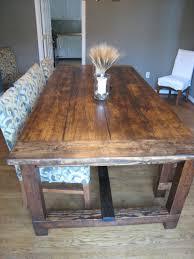 Farmhouse Kitchen Tables Uk Furniture Elegant Rectangle Brown Textured Natural Wood Rustic