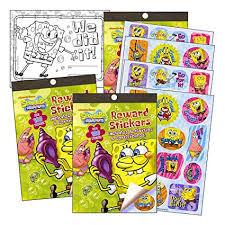 Spongebob Squarepants Reward Stickers Activity Book Set 2 Books Over 200 Stickers Reward Certificates With 2 Bonus Stickers