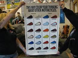 Details About Harley Davidson Dealer Display Banner Poster Sign 1986 Color Paint Chart 1108