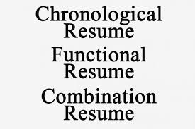 Chronological And Functional Resume Types Experience With