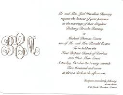 wedding invitation covering letters