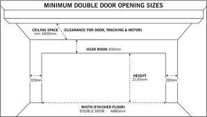 garage door sizeminimum double garage door size  House Design