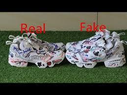 reebok vetements instapump fury. comparison real vs fake \ reebok vetements instapump fury i