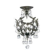 flush mounted chandeliers also crystal basket 3 light antique