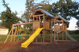 playground plans you customize for the do it yourself builder for a custom playground with towers monkey bar swings slide and bridge