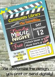 Movie Night Invitation Templates 30 Best Of Movie Night Poster Template Pictures Yalenusblog