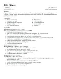 Example Electrician Resume Awesome Example Of Electrician Resume To Resume Examples Electrician