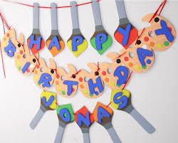 art paint birthday party banner paint brush n pallet custom words 20 letters