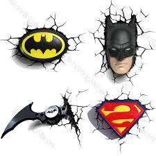 preferred 3d wall art nightlight with regard to dc comics batman superman 3d wall lights