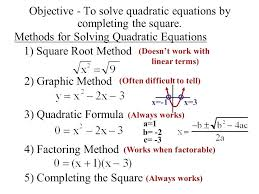 square root method to solve quadratic equations formula calculator equation solving methods general form of