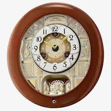 seiko clocks brown wooden melos in