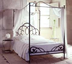 Metal 4 Poster Bed Modern 4 Poster Bed Wrought Iron Canopy Bed ...
