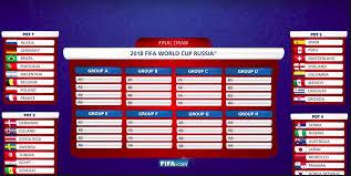2018 Fifa World Cup Fixtures Printable Chart Malaysia Time