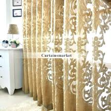 Gold Patterned Curtains