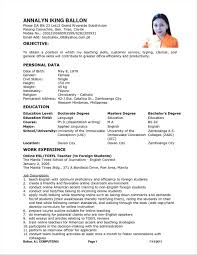Sample Resume For Teacher Applicant Sample Resume For Teacher Applicant 24 Infantry 1