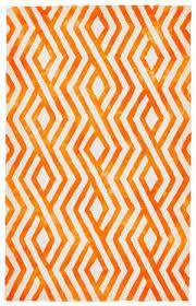 feizy garcia 8756f orange area rug