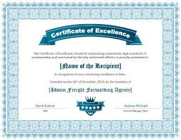 Award Of Excellence Certificate Template 100 Free Printable Certificates of Excellence Templates 13