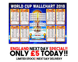 Russia World Cup Wall Chart 2018 New Listing Over 800
