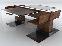 Creative Plywood And Glass Dining Table With Unique Shape Design Ideas.
