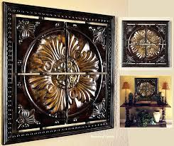 tuscan wall art framed medallion iron decor old world italian canvas tuscan wall art