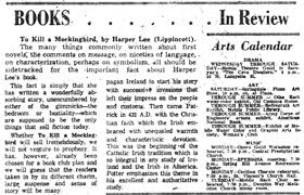 how newspapers reviewed     to kill a mockingbird     in   pbs newshourjuly review of  quot to kill a mockingbird quot  in the mobile press register