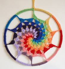 How To String Dream Catcher String Theory Crochet How to Crochet a Rainbow Spiral Dream 56