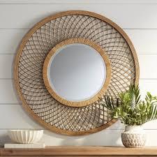 Edge walnut round wall mirror options. Rattan Wall Decor Target