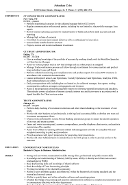 business admin resume trust administrator resume samples velvet jobs