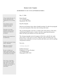 Ending A Business Letter Template Resume Builder
